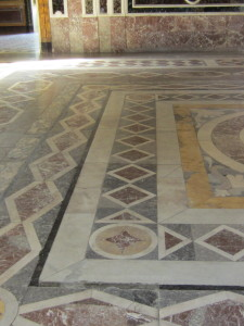 mosaic section of ballroom